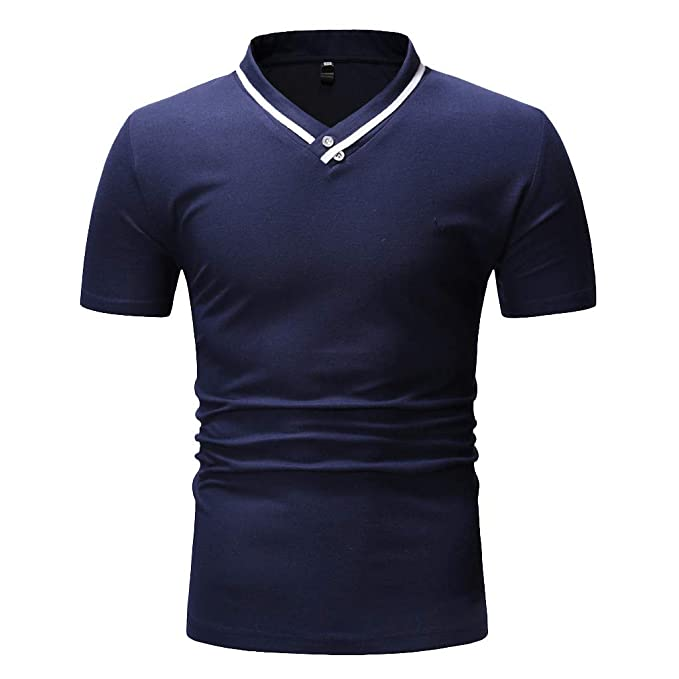 5f5ff8f0bcae TIFIY Verano Nuevo 2019 Camiseta Slim Fit para Hombre Casual Basicas ...