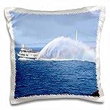 Sandy Mertens Michigan Travel Designs - Ferry to Mackinac Island Michigan - 16x16 inch Pillow Case (pc_6273_1) offers