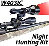 Cheap Wicked Lights W403IC Night Hunting Kit With Red Intensity Control LED for Predator, varmint & Hog complete Red led light kit