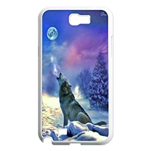 Wolf art,wolf love moon Unique Design Hard Pattern Phone Case For For Samsung Galaxy Case Note 2 FKGZ478060