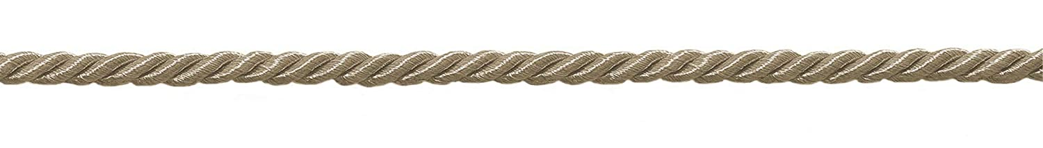 |Color: Sandstone A10 8641 D/ÉCOPRO 36 Yard Package of Small 3//16 Brass Beige Basic Trim Decorative Rope|Style# 0316NL 108 Feet // 32.9 Meters