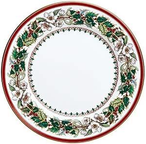 Amazon.com | Spode Christmas Rose 10-Inch Dinner Plate ...