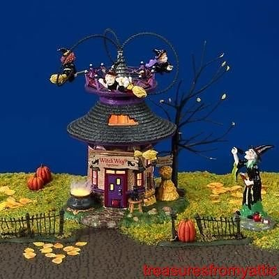 Department 56 Witch Way Flight School Halloween Retired Item -