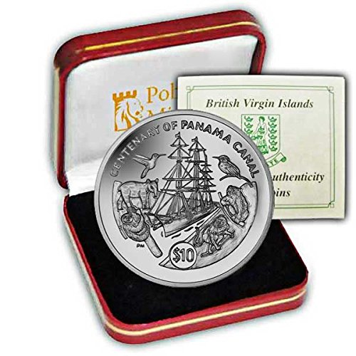 Pobjoy Mint Limited British Virgin Islands 2014 Centenary of the Panama Canal Proof Silver Commemorative Coin - Proof British Virgin Islands