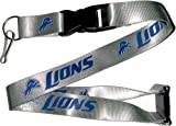 NFL Detroit Lions Team Color Lanyard, 22-inches, Gray