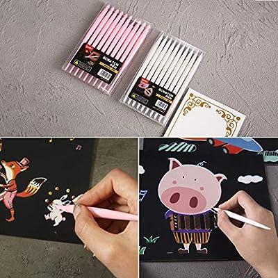 jiulonerst Portable Multi-Function Painting Scratch Pen, Stylus Stroke Paint Coloring Pens: Toys & Games