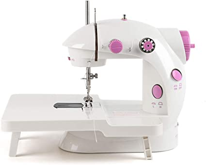Portable Mini Sew Machine with Needle Protector Double Speed with Foot Pedal NEX Sewing Machine Sewing Craft Christmas Gift for Child