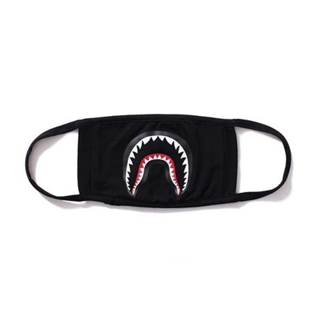 Dasuke Fashion A Bathing APE BAPE Shark schwarz Face Maske Camouflage mouth-muffle Bape Cover (A)