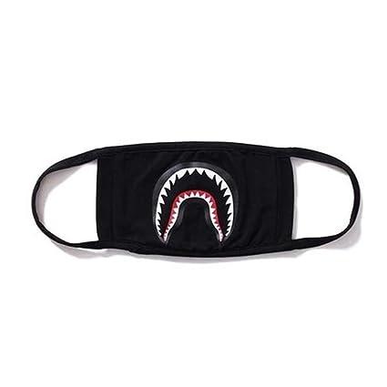 SROVFIDY- Máscara de camuflaje, diseño de tiburón, color negro (A)