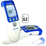 TempIR Body Temperature Thermometer - Infrared for Baby Adult Child - Non-contact - Clinical Thermometers - for Surface Temperature Forehead Body Room - Store 32 Temperatures - High Temperature Alarm
