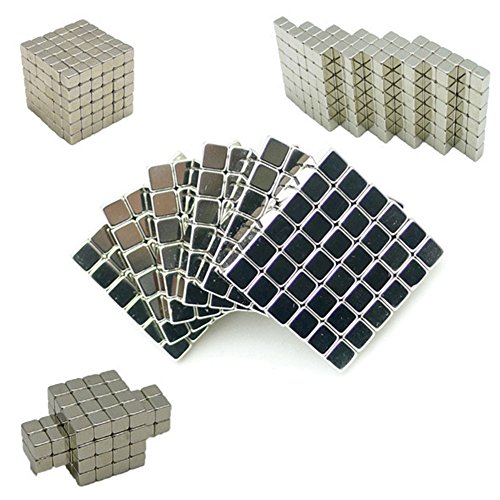 Magnetic Cube Buck Balls For Stress Relief Education Craft Decoration 216 pieces (0.2 x 0.2 x 0.2 inches)