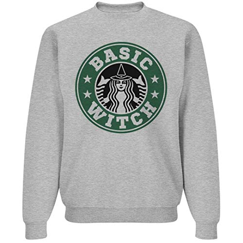 Basic Witch Halloween Coffee: Unisex Gildan Crewneck Sweatshirt