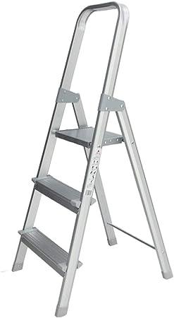 Su bai Escalera Taburete Plegable Gruesa Aleación de aluminio Antideslizante Escalera interior Escalera Multifunción Portátil Exterior Ingeniería Escalera Tres pasos, 122X43X55cm pedal: Amazon.es: Bricolaje y herramientas