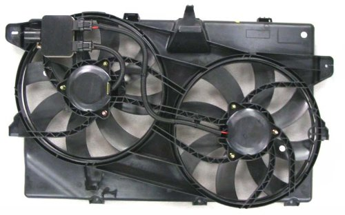 Dual Radiator and Condenser Fan Assembly - Cooling Direct For/Fit FO3115175 07- May'09 Ford Edge Lincoln MKX w/ Tow Package - Edge Performance Package