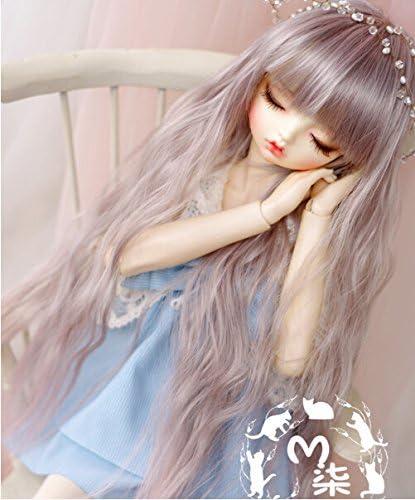 """BJD wig 1//3 8-9/"""" Dal Pullip Blythe SD DD Obitsu Doll Head Brown Mix Hair"""
