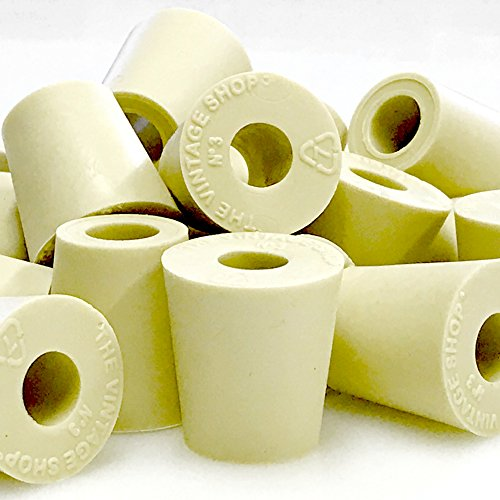 #3 Rubber Stopper With Hole - 10-Pack by Vintage Shop (Image #1)