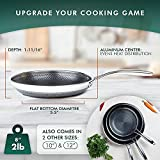 HexClad 8 Inch Hybrid Stainless Steel Frying Pan