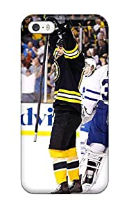 Tpu Case Cover For Iphone 5/5s Strong Protect Case - Boston Bruins (25) Design