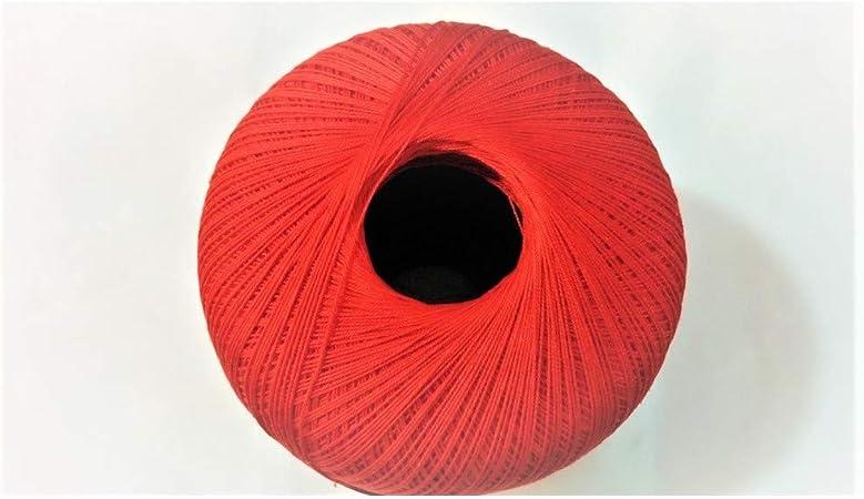 Rosso TOMASELLI MERCERIA Cotone Filo di Scozia per Uncinetto Numero 16 gomitolo da Grammi 100