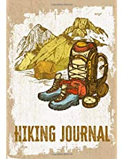 Hiking Journal: Hiking Logbook With Prompts & Picture Space, Memory Keepsake Book