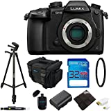 Panasonic Lumix DC-GH5 Mirrorless Micro Four Thirds Digital Camera (Body Only) + 72 Tripod with 32GB Memory Card, Case, and Pixi-Basic Bundle
