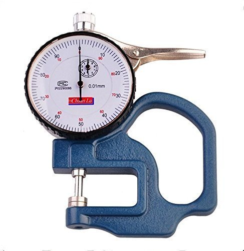 JIAN YA NA Thickness Gage 0-10mm Dial Thickness Gauge Leather Cloth Paper Film Thickness Meters 0.01mm