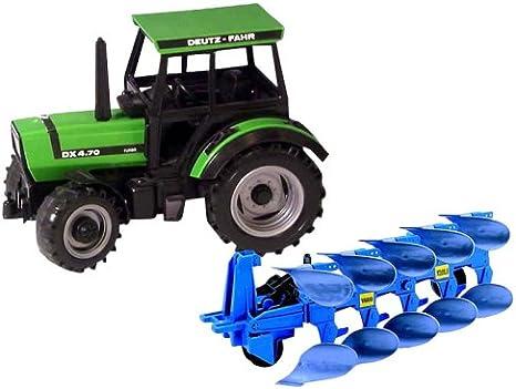 Bruder 01250 Traktor Deutz mit Pflug, 50 cm: