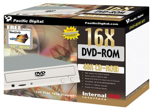 Pacific Digital U-30115 16x Internal IDE DVD-ROM Drive by Pacific Digital