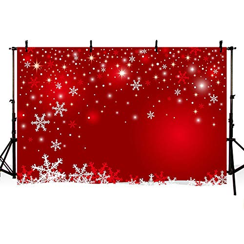 - MEHOFOTO Red Snowflake Photo Studio Background Winter Christmas Happy New Year Birthday Banner Photography Backdrops Props 7x5ft