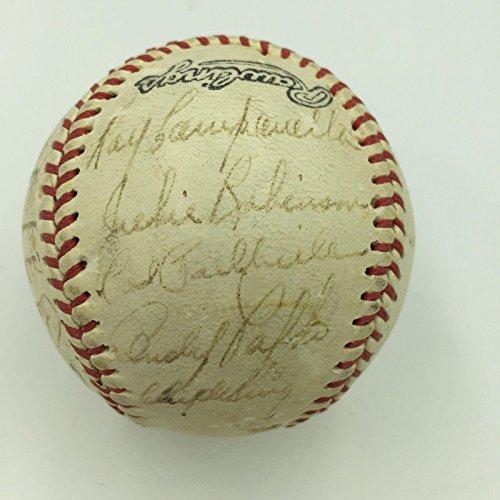 1951 Brooklyn Dodgers Team Signed Baseball Jackie Robinson Duke Snider SGC COA - Baseball Slabbed Autographed Cards (Autographed Brooklyn Baseball Dodgers)