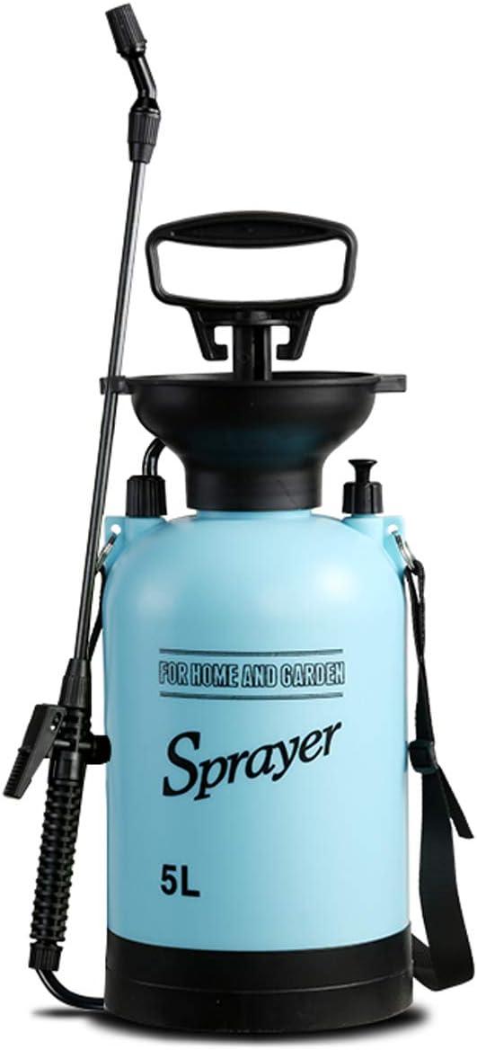 CLICIC Lawn and Garden Portable Sprayer 1.3 Gallon - 1.3 Gallon Pump Pressure Sprayer Includes Shoulder Strap Blue