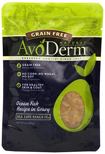 AvoDerm Natural Grain Free Cat Food, 3-Ounce, Ocean Fish, Case of 24