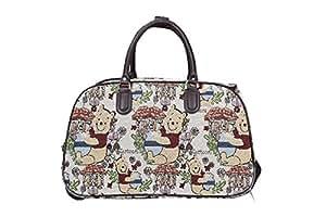 Mujer Dama Niñas Cartoon Winnie The Pooh Fashion impresión Bolsa Carrito con Ruedas – Fin de
