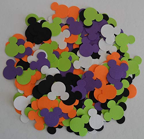 100 Mickey & Minnie Mouse Assorted Colors Party Confetti Die Cuts Table Decor]()
