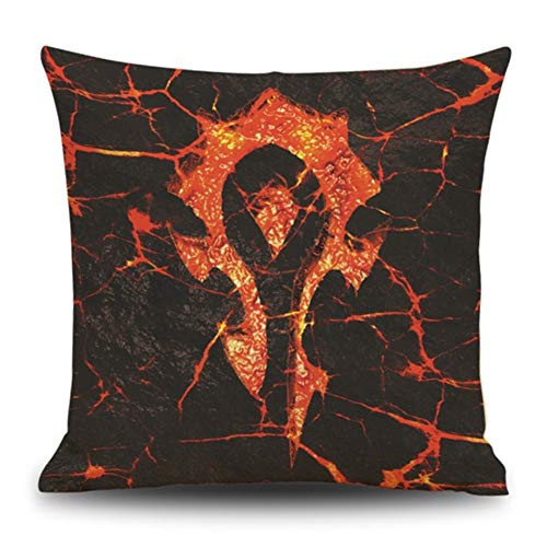 Cityeast World of Warcraft Pillow Cover Decorative Movie Characters Square Pillow Case Linen Living Room Sofa Car Office 18 x 18 Inch Cushion Cases, Pattern 3 (Warcraft Of World Pillow)