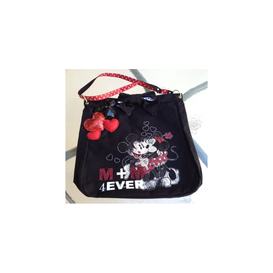 Disney Mickey Minnie Mouse 4 Ever Cloth Tote Purse NEW