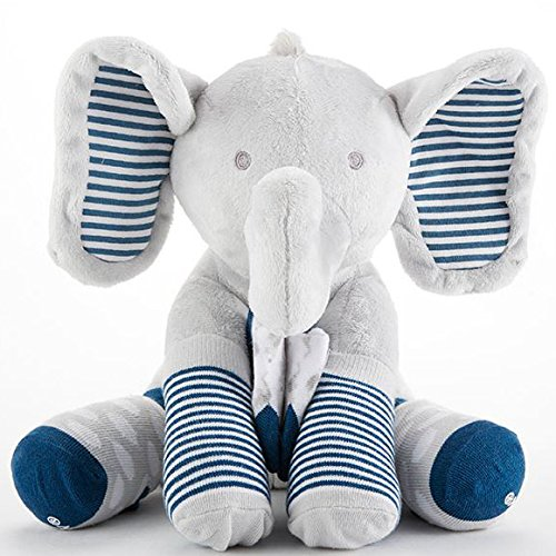 Baby Aspen Louie The Elephant Plush Plus with Socks for Baby ababy BA15181BL