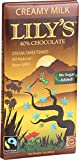 Lily s Sweets Chocolate Bar - Creamy Milk Chocolate - 40 Percent Cocoa - 3 oz Bars - Case of 12 - Gluten Free - Kosher