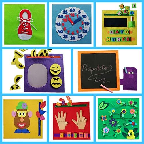 QUIET BOOK. Libro sensorial, Montessori, juguete educativo