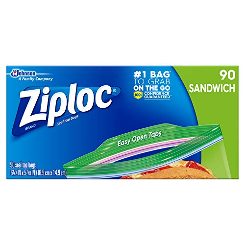 Ziploc Sandwich Bag, 90 Count