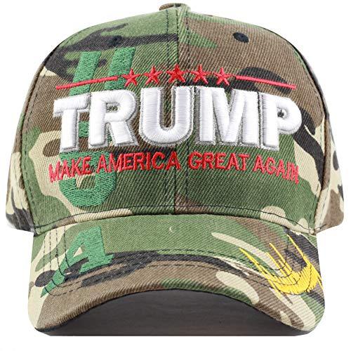 (THE HAT DEPOT Exclusive Trump Keep America Great/Make America Great Again 3D Signature Cap (Wood Camo))