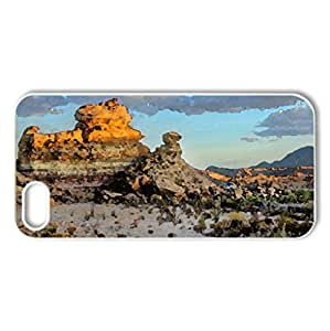 superb desert scene at big bend np texas - Case Cover for iPhone 5 and 5S (Deserts Series, Watercolor style, White)