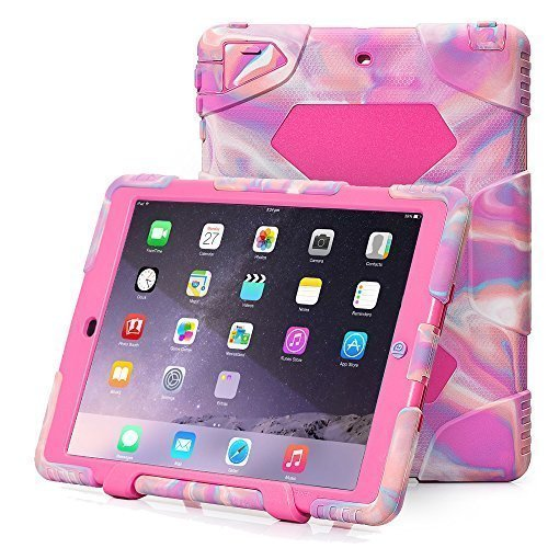 Aceguarder Apple Ipad Mini 1&2&3 Case Rainproof Shockproof Kids Proof Case for Ipad Mini 2 Mini 1&2 (PINK CAMO-PINK)