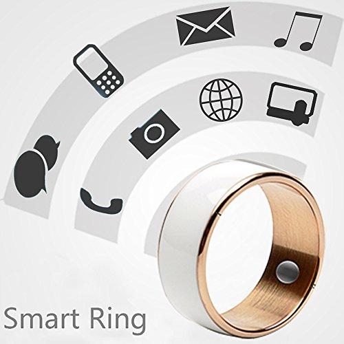 60mm White Titanium Waterproof App Enabled Smart Ring NFC Smart Ring