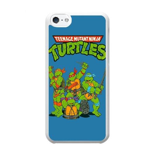 Coque,Coque iphone 5C Case Coque, Teenage Mutant Ninja Turtles Logo Cover For Coque iphone 5C Cell Phone Case Cover blanc