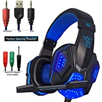 Gaming Headset for PS4 Xbox One, hyfanda Over Ear Gaming...