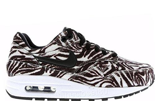 Nike Air Max 1 Qs (Gs), Zapatillas de Running para Niños Blanco / Negro (White / Black)