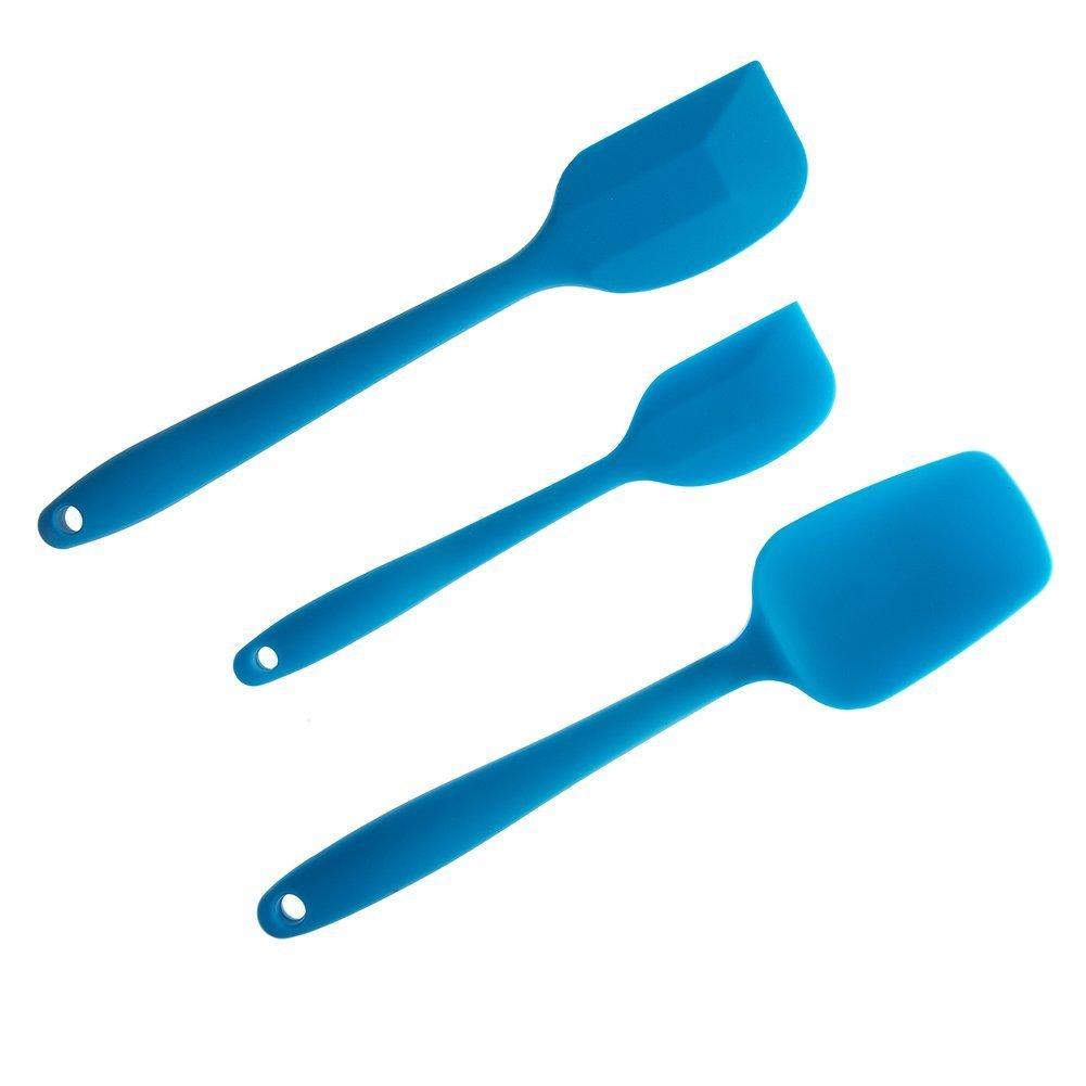 Amazon.com: Sinide Silicone Spatulas Set - 3 Piece Cooking Utensils ...