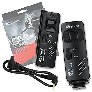 Aputure Pro Coworker Wireless Remote, RF Radio Shutter Release for Canon EOS 1D, 1DS Mark II, III, Mark III, IV, 1DC, 1DX, 10D, 20D, 20DA, 30D, 40D, 50D, 5D, 5D Mark II, III, 7D, Replaces Canon RS80N3