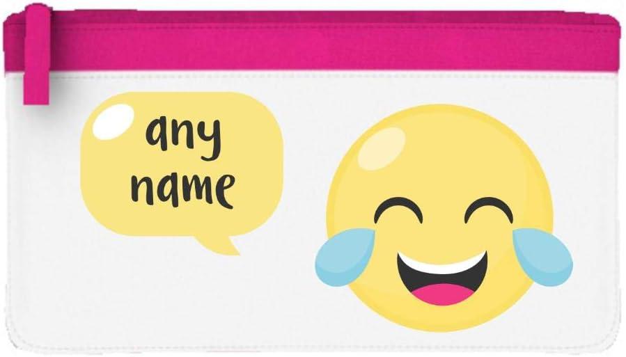 Estuche para lápices con diseño de emojis y texto en inglés